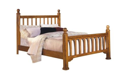 honey oak king bed