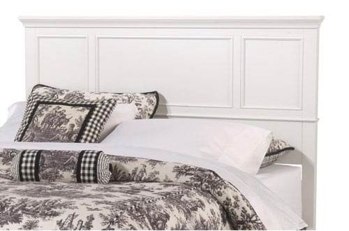 Home Styles 5530-501 Naples Queen Headboard, White Finish