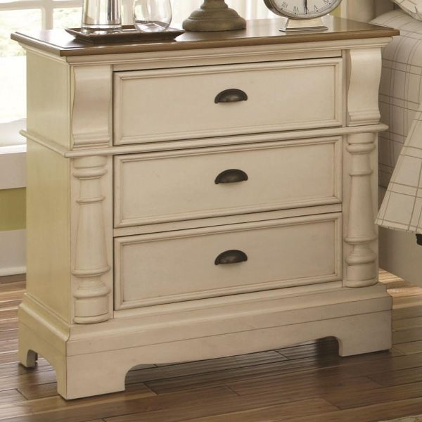 Coaster Home Furnishings Country Nightstand, Oak and Buttermilk