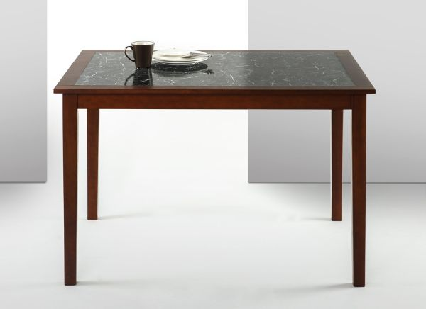 Zinus Faux Marble and Wood Dining Table - Table Only