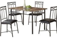 Coaster Home Furnishings 150115 5-Piece Casual Dining Room Set, Black