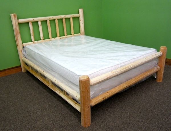 Midwest Log Furniture - Premium Log Bed - Full