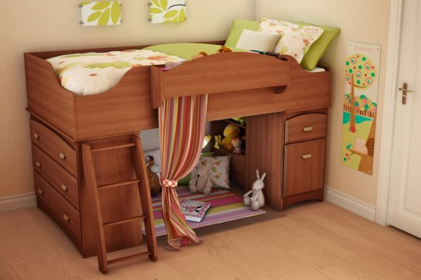 South Shore Loft Bed Imagine Collection Teen Bedroom Furniture, Morgan cherry