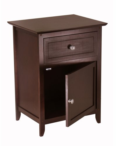 Winsome Wood Beechwood EndAccent Table, Espresso