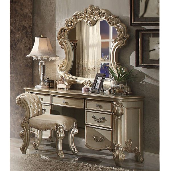 1PerfectChoice Vendome Bedroom Luxury Vanity Table Makeup Desk Mirror
