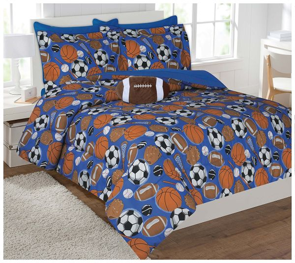 Fancy Collection Kids Teens Sports Football Basketball Baseball Soccer Design Luxury Comforter