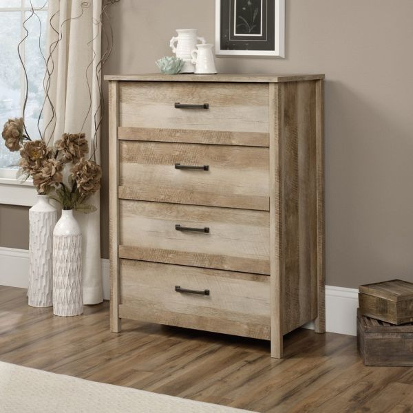 Sauder Furniture Cannery Bridge Lintel Oak Country 4-Drawer Dresser Chest