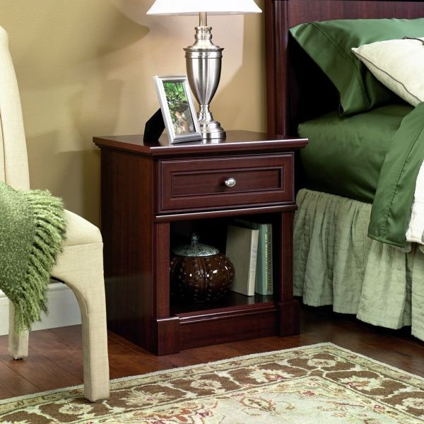 Sauder Palladia Night Stand Select Cherry Finish