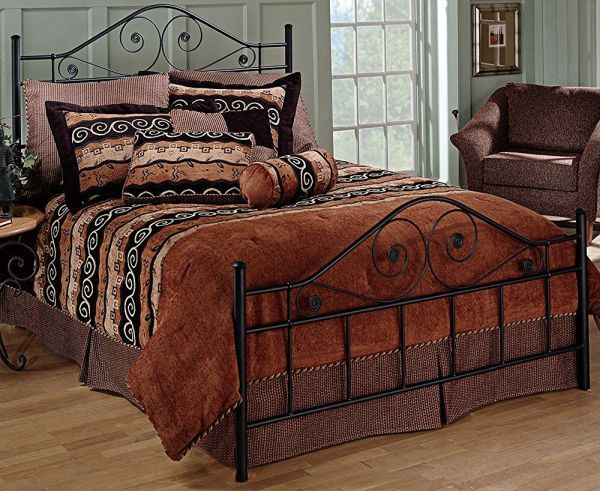 Hillsdale Furniture Harrison Bed Set with Rails Queen Texture Black