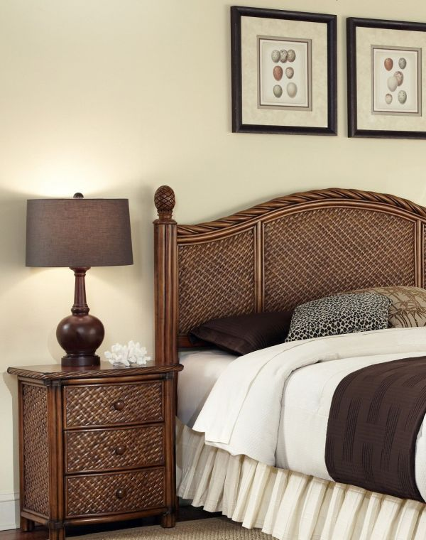 Home Styles Marco Island Queen Full Headboard and Night Stand