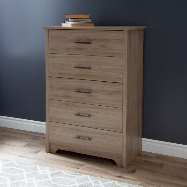 South Shore Fusion 5-Drawer Chest Rustic Oak