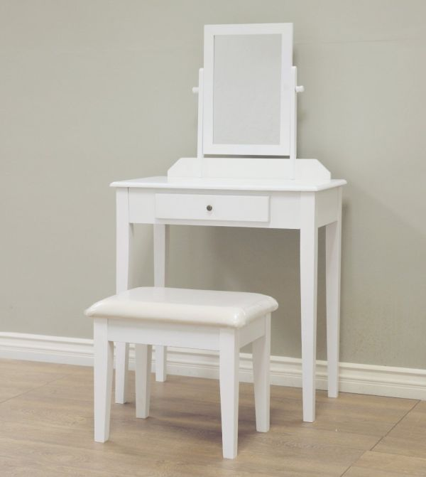 Frenchi Home Furnishing Wood 3-Piece Vanity Set White Finish