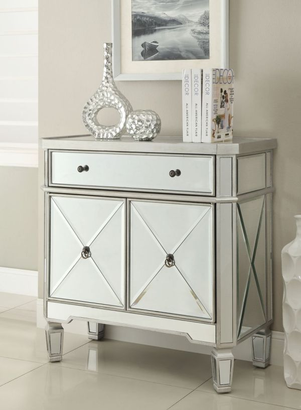 Amelia Mirrored 1-Drawer, 2-Door Console