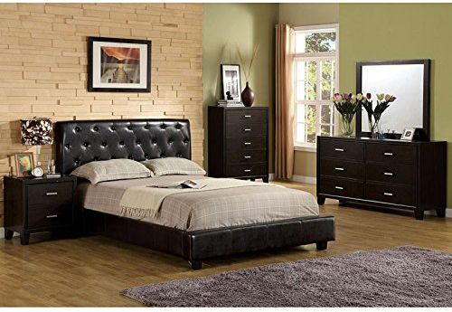 Concord Contemporary Style Espresso Finish Eastern King Size 6-Piece Bedroom Set