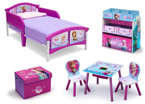 Frozen Bedroom Decor Toddler Girl Bedroom Sets Kids Disney Frozen Movie Princess Toy Chair Toy Chest Storage