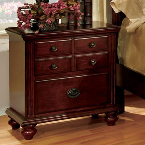 Gabrielle Night Stand European Style by Furniture of America