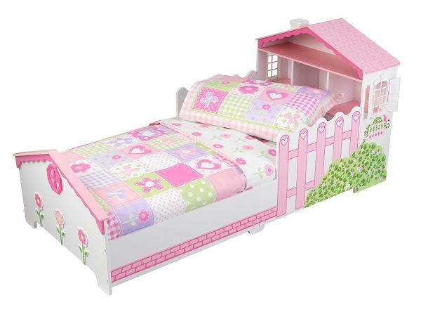 KidKraft Toddler Dollhouse Cottage Bedding Set 4-Piece