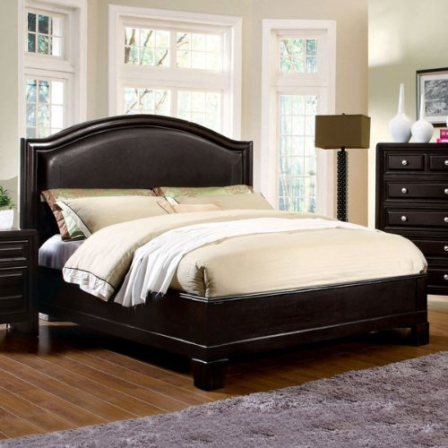 Winsor Elegant Style Espresso Finish Queen Size Bed Frame Set