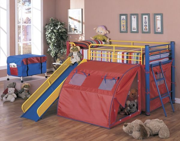 Kids Bunk Bed with Slide and Stairs