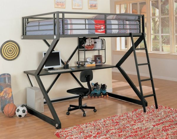Bunk Bed with Open Bottom