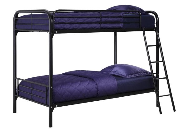 DHP Twin Over Twin Metal Bunk Bed - Black