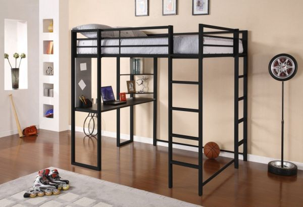 Dorel Home Products Abode Full Size Loft Bed Black