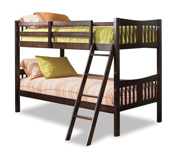 Storkcraft Caribou Solid Hardwood Twin Bunk Bed Espresso