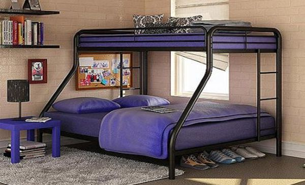 Sturdy Kids Sturdy Twin Over Full Metal Bunk Bed with Stairs