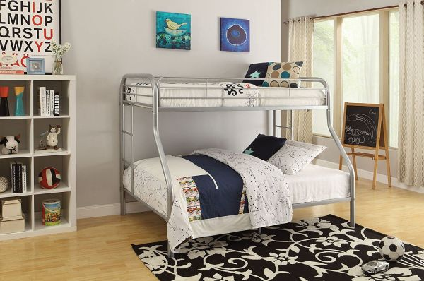ACME Furniture 02052SI Tritan Bunk Bed Twin X-Large Queen Silver