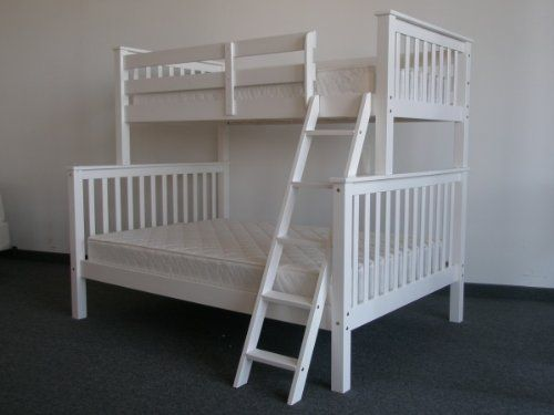 Bedz King Bunk Bed Twin Over Full Mission Style White