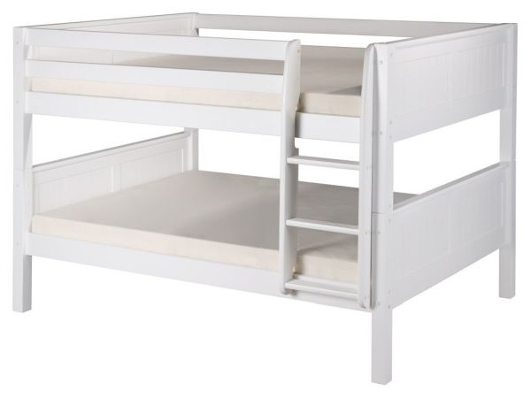 Camaflexi Panel Headboard Full over Full Low Bunk Bed
