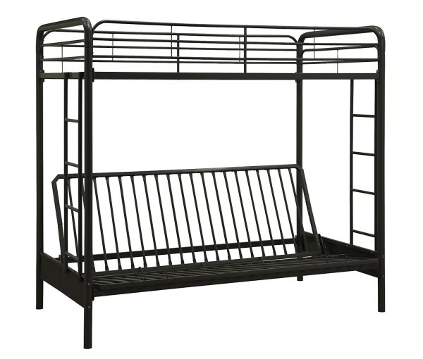 Dorel Home Products Twin-Over-Full Futon Bunk Bed Black