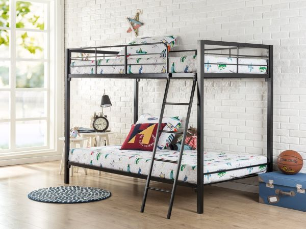 Zinus Easy Assembly Quick Lock Twin over Twin Metal Bunk Bed Quick to Assemble in Under an Hour