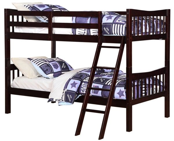 Angel Line Fremont Twin Over Twin Bunk Bed Espresso