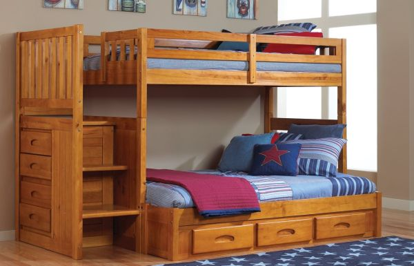 Wood Bunk Beds Twin over Full
