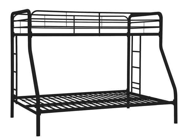 Dorel Home Products Twin-Over-Full Bunk Bed Black