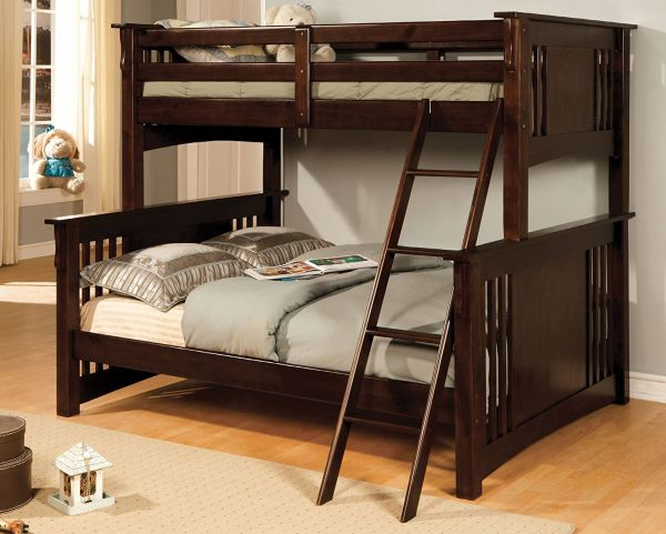Furniture of America Concord Bunk Bed Twin Full Espresso