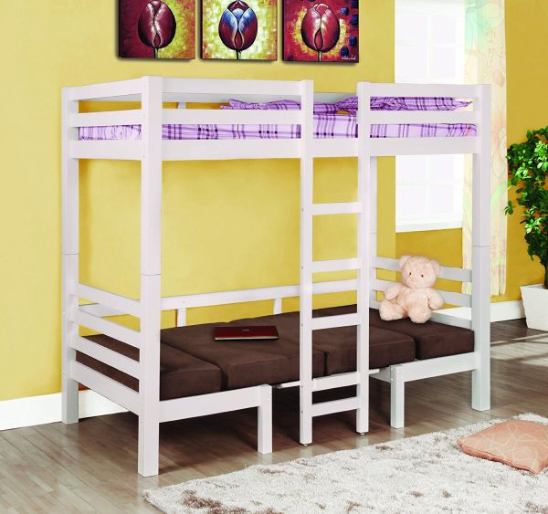 Coaster Fine Furniture 460273 Convertible Loft Bed Twin White Finish