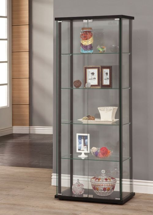 Coaster Home Furnishings Glass Curio Cabinet Black