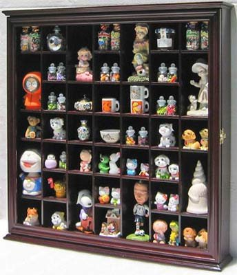 Collectible Display Case Wall Curio Cabinet Shadow Box with Glass Door