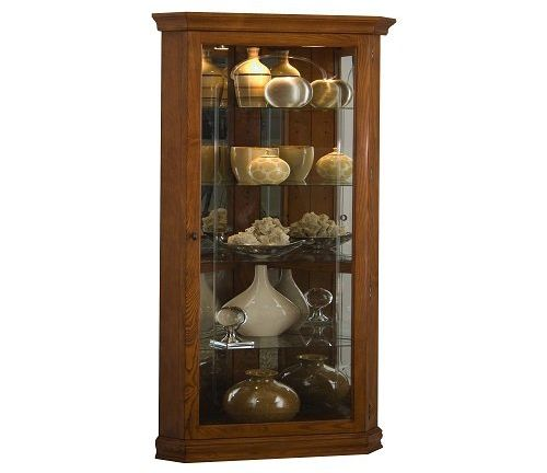 Pulaski Corner Curio Medium Brown