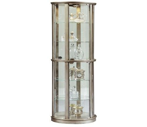 Pulaski Glass Door Curio Silver