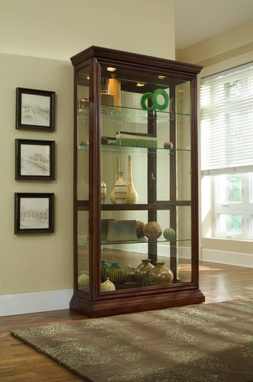 Pulaski Two Way Sliding Door Curio