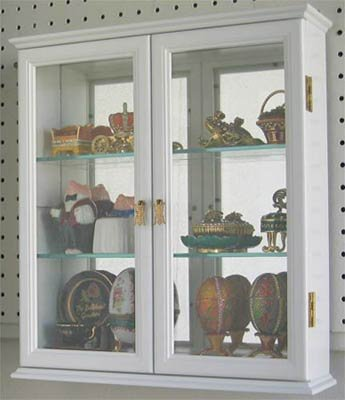 Wall Mounted Curio Cabinet Wall Display Case with Glass Door