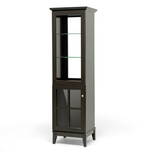 Baxton Studio Nelson Modern Storage Tower Dark Brown