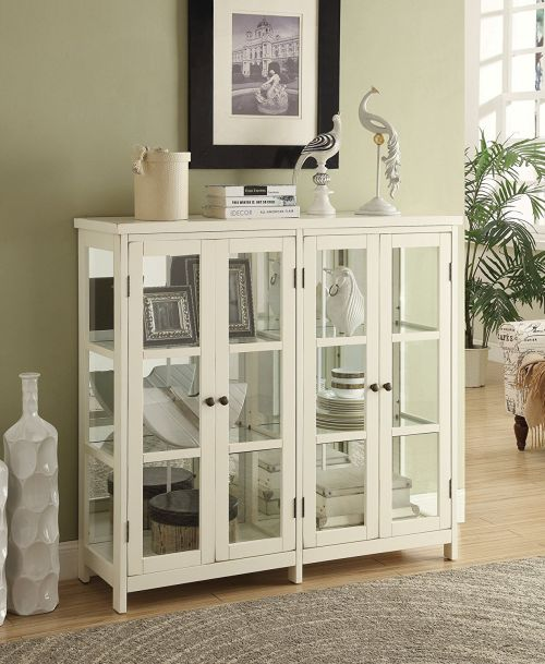 Coaster Accent Display Cabinet in White