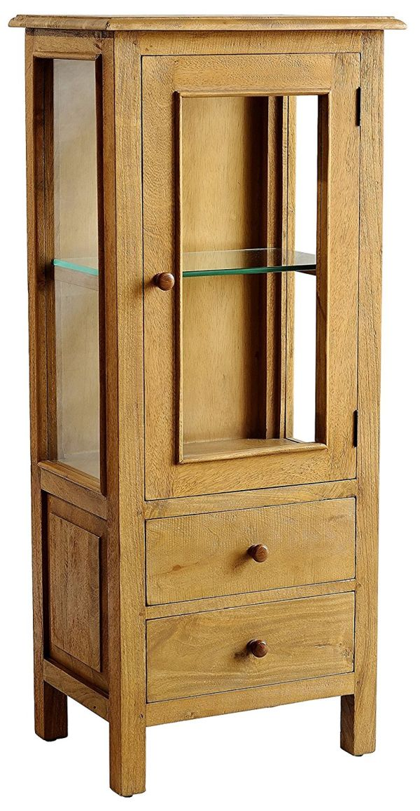 Casual Elements Rustic Curio Cabinets Mango Natural