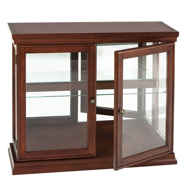 Double Door Curio Mahogany