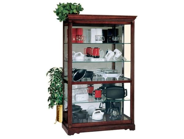 Townsend Display Case Windsor Cherry Dimensions 50W x 22D x 80H Weight 303 lbs