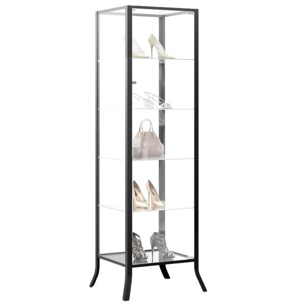 Black Glass Curio Cabinet
